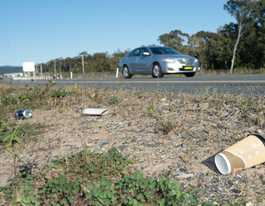 Rubbish along new highway stretch sparks anger at litterbugs
