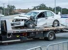 WRC rally driver Mads Ostberg and co-driver Jonas Andersson were treated for minor injuries after their car crashed with a truck during Rally Australia's recce.