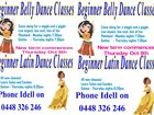 Beginner Belly Dance and Latin Classes