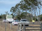 POLICE cars surrounded the scene of a tragic accident on a property near Milman yesterday afternoon.