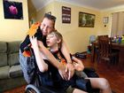 CALEM McDavid, 11, smiles and waves from his wheelchair, but all he really longs to do is escape from it.