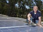 RUNNING HOT: Solar panel installer Darren Rosolak says the end of the generous goverment bonus scheme hasn't killed household solar.