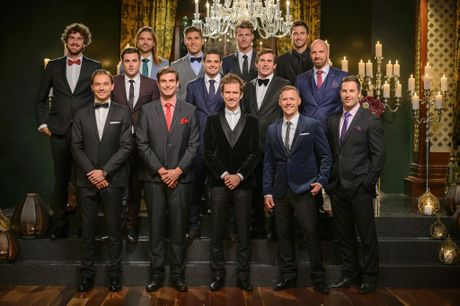 The men appearing on The Bachelorette, top row from left, Shane, Drew, Tony, Richie, Michael, middle row, Davey, Luke, Dave and Alex, and bottom row, David, Kayne, Will, Kieren and Sasha.