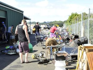 Shopping for bargains at the Lismore Revolve Shop, Lismore Recycling & Recovery Centre.