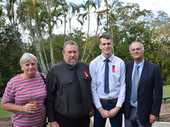 WHEN the SES could not get to a Lowmead property to help two trapped residents, they phoned Gary and Ben Dingle.