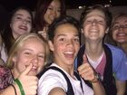 GENEROUS ACT: The group of teens couldn't resist taking a selfie before returning the lost $1000 iPhone 6 to its owner.