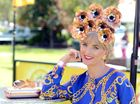 Lisa March from the Gold Coast judging fashions at the Lismore Cup. Photo Cathy Adams / The Northern Star