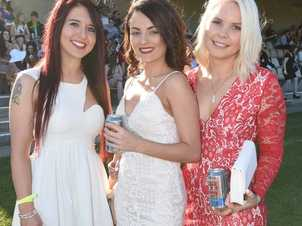 Emily Ftzgerald, Brittney Hambly and Brit Ryan, all of Lismore at the Lismore Cup. Photo Marc Stapelberg / The Northern Star