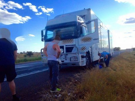Police pulled up a truck on the Sturt Hwy at Hay on Sunday (27/09/15) and found more than they bargained for. Photo Facebook