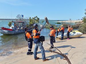 Sinkhole recovery at Inskip Point.