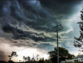 Slow storms moving around south-east Queensland