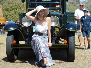 AUTO SHOW: Aleesha Darr at the Rum City Rods Auto- Mazing Car Show held at Bargara on Sunday, 4 October 2015. Photo: Max Fleet / NewsMail