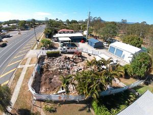 BIRD'S EYE VIEW: The old Miriam Vale Ambulance Station was demolished last week.