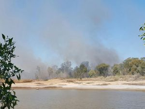 WATCH: Fire crews work to contain blaze burning in Pialba