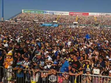 Fans at 1300SMILES Stadium in Townsville