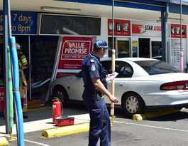 Chemist reopens after car through shopfront