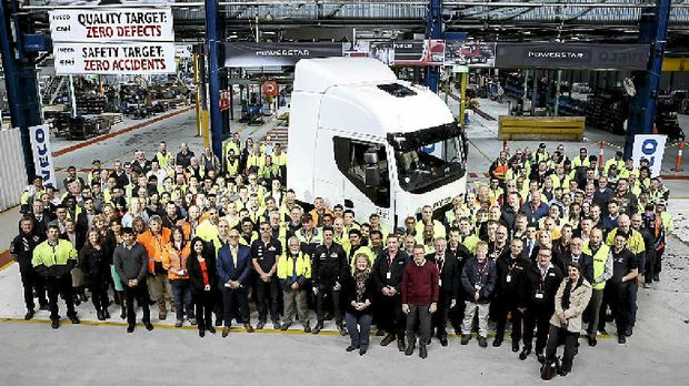 GREAT JOB: Iveco is proud of our truckies!