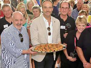 EVENT TO CONTINUE: Jim Berardo (left) at this year's Noosa International Food and Wine Festival.