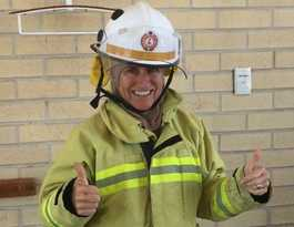 Only female firefighter handles the heat on the Coast
