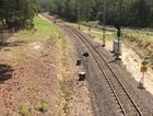 Single track rail line for trains to new city of 50,000 people on the Sunshine Coast.