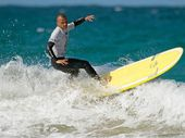 GOLD Coast surfer Joel Tilley won the open nine foot division at the Evans Head Malibu Classic.