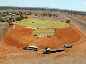 OVAL UPGRADE: The Rolleston oval has had a major overhaul.