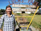 SUSTAINABLE MOVE: Andrea Maxwell at the Armstrong Street Community Garden in Berserker.