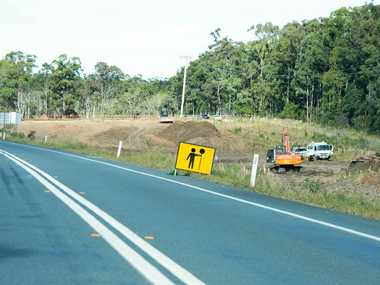 Work on the Arrawarra to Glenugie sections of the Pacific Hwy upgrade is forging ahead. This image was taken near Corindi.