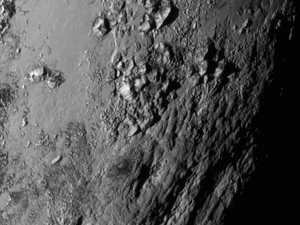 The surface of Pluto, captured by Nasa's New Horizons probe NASA/APL/SwRI via Getty Images