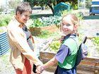 Carmen Burnett has been volunteering in St Patrick's school garden to the benefit of her and the students.