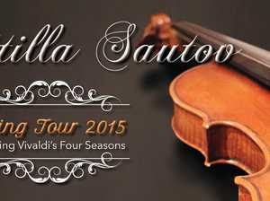 As part of its 2015 Spring Tour, Attilla Sautov will return to Maleny for a performance with the newly formed Australian Virtuosi Chamber Orchestra.