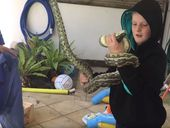 REPTILE-LOVING eight-year-old Leroy Brown just might be the best snake catcher in his whole damned town.
