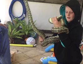 VIDEO: Nothing bad about Leroy Brown's first snake rescue
