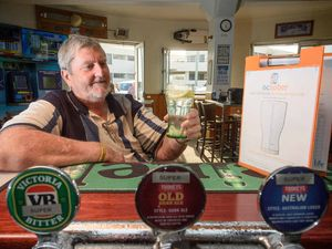 ON THE WAGON: Ian McKay is saying no to his usual beer at the Pacific Hotel and participating in Ocsober. Photo Adam Hourigan