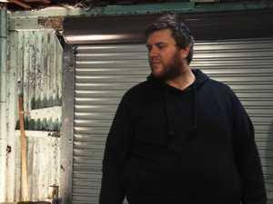 HEIST ACTION: Dean Netherwood plays one of the robbers in Ian Westley's short film, Dominoes.