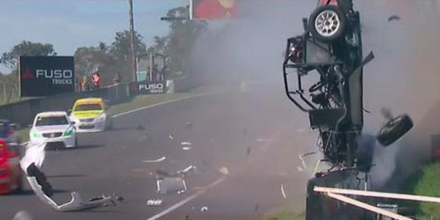 Bathurst Aussie Racing Car Crash