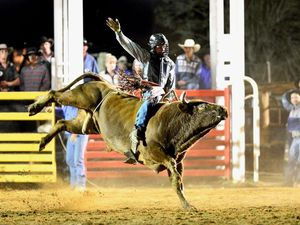 Justin Paton competing at Sarina Show Rodeo.