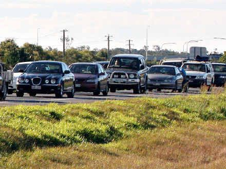 BACKED UP: Traffic on the Bruce Hwy is a nightmare for commuters.