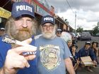 Max Stone and Michael Balderstone, pose for a portait out the front of the Hemp Embassy and Hemp bar.