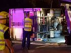 A TRUCK has lost its trailer on the Pacific Highway, south of Coffs Harbour tonight.