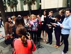Banora Point child abuse tells media outside the Royal Commission headquarters in Sydney she was the victim of a massive pedophile ring with high-profile members including two former Prime Ministers. Contributed