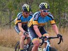 C Grade competitors in the early stages of the 2015 Grafton to Inverell Cycle Classic at Waterview Heights.