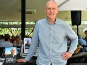 FORMER Midnight Oil rock star, environmentalist and politician Peter Garrett has spoken of his fond memories of Noosa at the launch of his book Big Blue Sky.