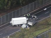 POLICE suspect that driver fatigue may have been involved when a truck crossed onto the incorrect side of the Warrego Highway at North Ipswich on Wednesday.