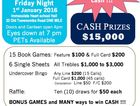 BIG Bingo - $15,000 in CASH one night only