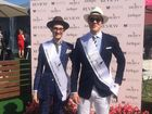A CAREER in men's fashion may have been the trick to two former Rockhampton boys scooping up first and second prize at yesterday's Melbourne Cup.
