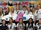 SUNSHINE Beach State High School students are running a breast cancer fundraiser raffle with Julian Wilson.