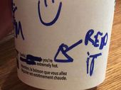 A BARISTA has apparently taken the concept of spicing up a latte one step further by adding a hidden and 'creepy' message on a teenage girl's coffee cup.