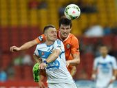 Roar defender James Donachie is hoping a strong performance against Perth Glory at Suncorp Stadium on Sunday will help him get back into Olyroos calculations.
