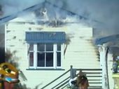 <strong>UPDATE: </strong>A man and his pets have made a lucky escape after a house caught fire in the Lockyer Valley.